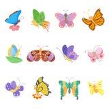 Farfalla sveglia isolata su bianco illustrazione di stock
