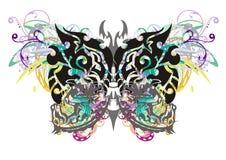 Farfalla tribale di lerciume Fotografie Stock Libere da Diritti
