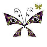 Farfalla variopinta con gli occhi per la vostra progettazione Fotografia Stock