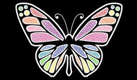 Farfalla variopinta di arte di vettore Fotografia Stock Libera da Diritti