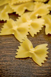 farfalle ιταλικά ζυμαρικά Στοκ Φωτογραφία