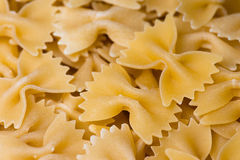 Farfalle. Gropu of traditional pasta from Italy royalty free stock images