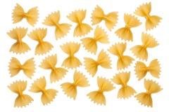 意大利未加工的面团farfalle,蝶形领结,蝴蝶 免版税库存图片
