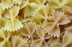 Farfalle. Pasta (with wholemeal pasta Royalty Free Stock Photography