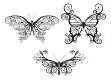 Farfalle astratte Fotografia Stock Libera da Diritti