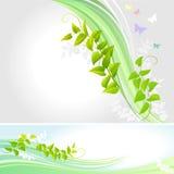 Farfalle astratte e un Creeper - vettore Fotografia Stock