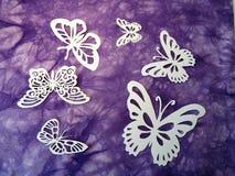 Farfalle bianche. Taglio di carta. immagine stock libera da diritti