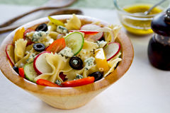 Farfalle with blue cheese salad Royalty Free Stock Photography