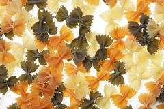 Farfalle or Bow Tie Pasta Stock Photo