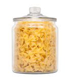 Farfalle Bow Tie Pasta in a Apothecary Jar Royalty Free Stock Photo
