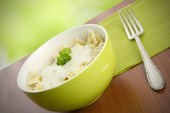 Farfalle with Cheese Stock Images
