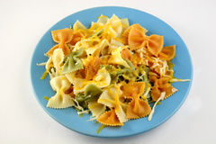 Farfalle with cheese Royalty Free Stock Photo