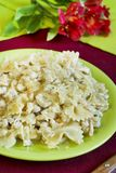 Farfalle with chicken Royalty Free Stock Photo