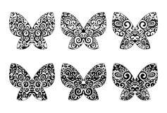 Farfalle con gli ornamenti Immagine Stock