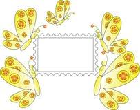 Farfalle con il bollo royalty illustrazione gratis