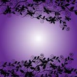 Farfalle con le piante isolate su fondo Fotografia Stock
