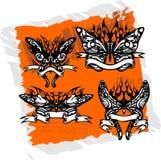 Farfalle con nastri adesivi - insieme 1. illustrazione di stock