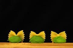 Farfalle de las pastas de Italien Foto de archivo