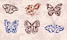 farfalla. icone. tatuaggio. Immagini Stock Libere da Diritti