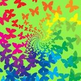 Farfalle del Rainbow Fotografie Stock Libere da Diritti