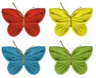 Farfalle del tessuto Fotografia Stock Libera da Diritti