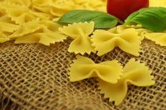 Farfalle della pasta di Italien Fotografia Stock