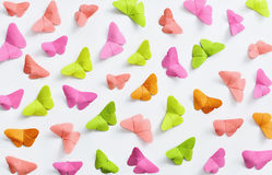 Farfalle di carta funky Fotografie Stock Libere da Diritti