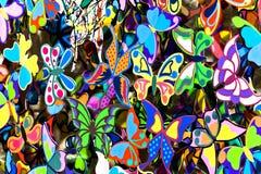 Farfalle di ?oloured Immagini Stock