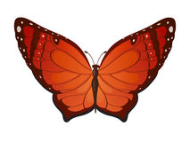 Farfalle di rosso di vettore Immagini Stock