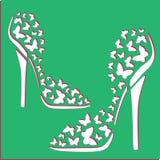 Farfalle di spirito delle scarpe delle donne Fotografia Stock Libera da Diritti