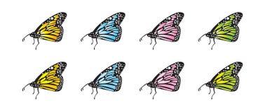 Farfalle di vettore Fotografia Stock