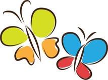 Farfalle di volo Fotografie Stock