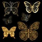 Farfalle dorate stabilite Fotografia Stock