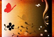 Farfalle e fiori Immagini Stock
