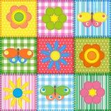 Farfalle e fiori illustrazione di stock