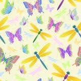 farfalle e libellule Immagini Stock