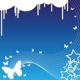Farfalle e stelle illustrazione di stock
