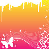 Farfalle e stelle illustrazione vettoriale