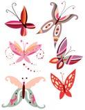 Farfalle eleganti Immagine Stock Libera da Diritti