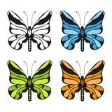 Farfalle impostate illustrazione di stock
