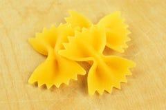 Farfalle, italian raw pasta Stock Photos