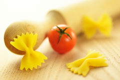 Farfalle, italian raw pasta Stock Images