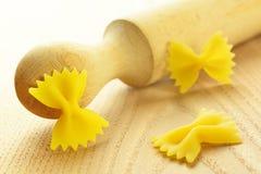 Farfalle, italian raw pasta Royalty Free Stock Images
