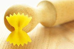 Farfalle, italian raw pasta Royalty Free Stock Images