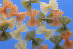 Farfalle in kleuren Stock Foto