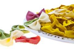 farfalle makaronu talerza tęcza Zdjęcie Royalty Free