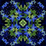 farfalle Modello caleidoscopico senza cuciture Fotografia Stock
