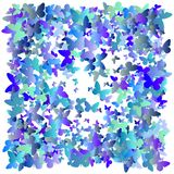 Farfalle multicolori di volo su un fondo bianco Oggetto isolato Progettazione del fondo delle farfalle di vettore Raggiro di Colo illustrazione vettoriale