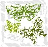 Farfalle nello stile moderno - insieme 1. Immagini Stock