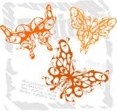 Farfalle nello stile moderno - insieme 3. Immagini Stock